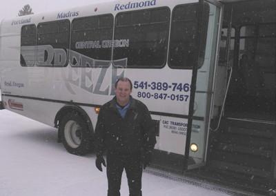 Breeze Bus Drivers Brave the Snow